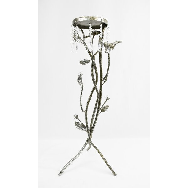 Glass Candlestick by Bungalow Rose