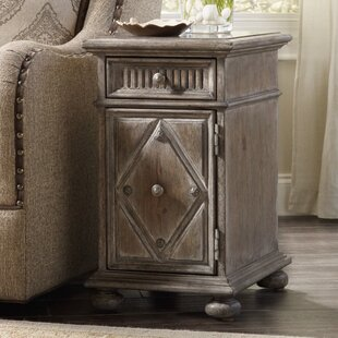 Bargain True Vintage End Table with Storage By Hooker Furniture