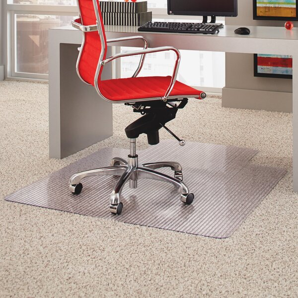 Lipped Linear Medium Pile Carpet Straight Edge Chair Mat by ES Robbins Corporation