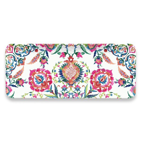 Phair Floral Rectangular Melamine Platter by Bungalow Rose
