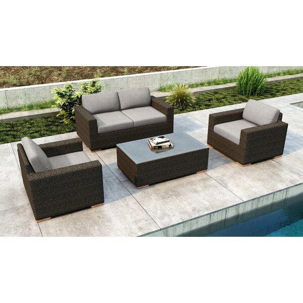 Glen Ellyn 4 Piece Sofa Set With Sunbrella Cushion By Everly Quinn