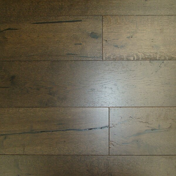 Caves 7-1/2 Engineered Oak Hardwood Flooring in Black Chocolate by Brayden Studio