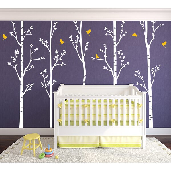 Birch Trees Wall Decal (Set of 5) by Pop Decors