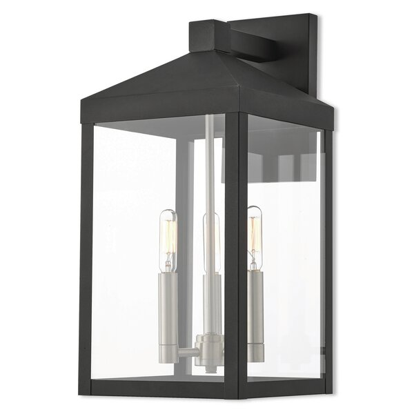 Demery 3-Light LED Outdoor Wall Lantern by Mercury Row