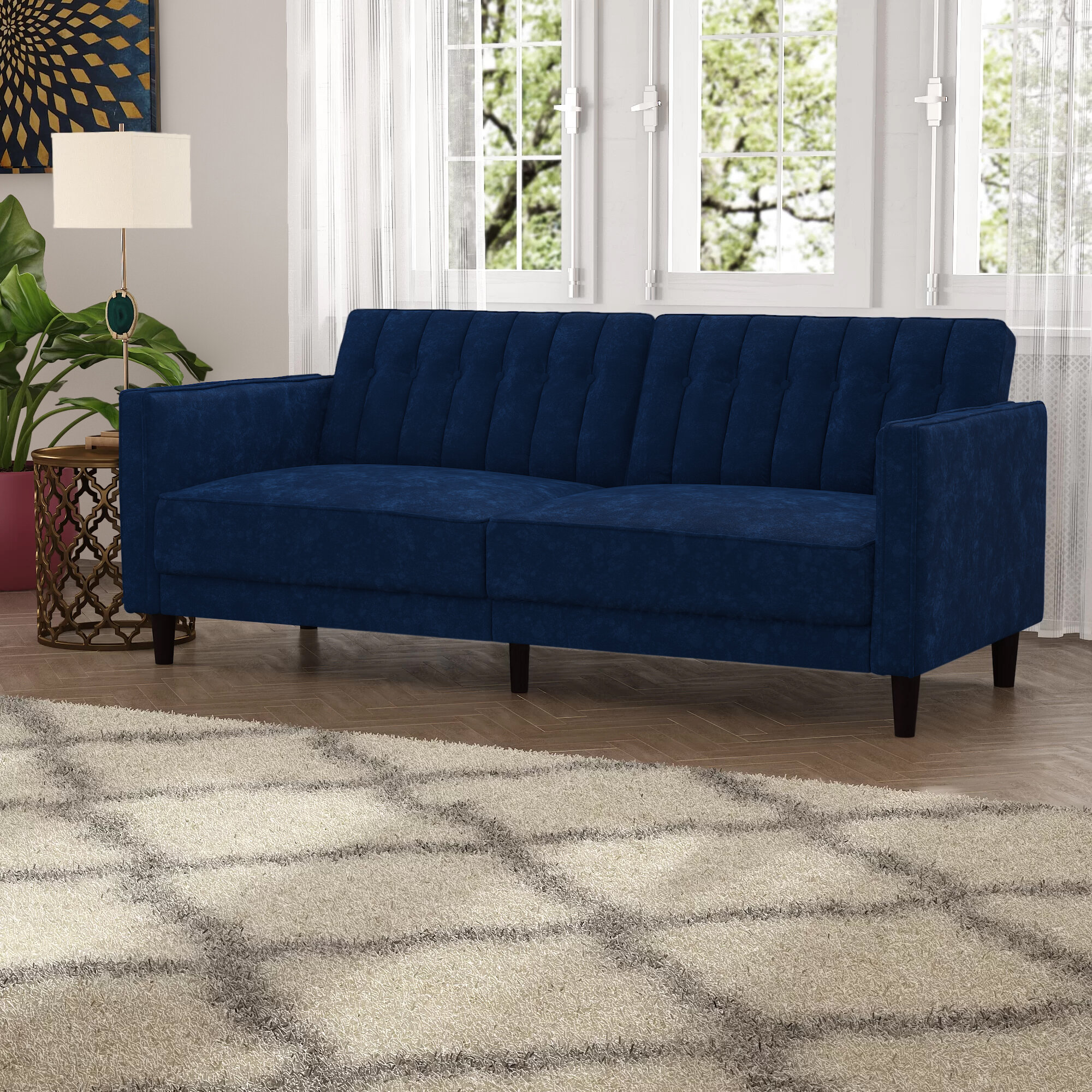 Mercer41 Grattan 81 1 Square Arm Sofa