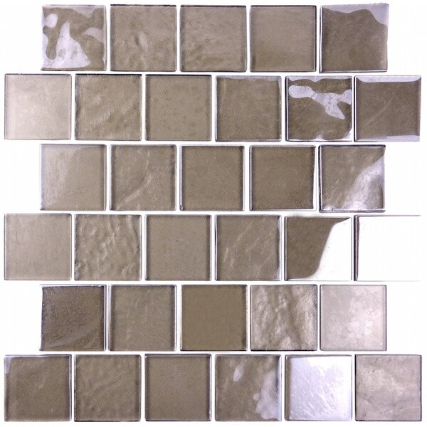 Landscape 2 x 2 Glass Mosaic Tile in Brown by Abolos