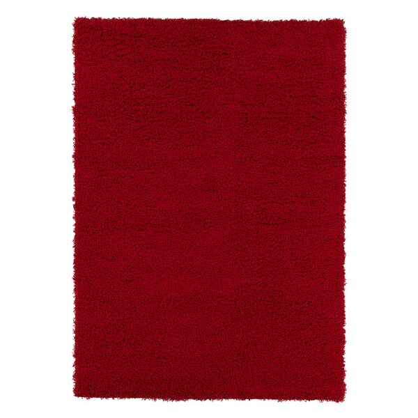 Shiiba Red Solid Area Rug by Orren Ellis