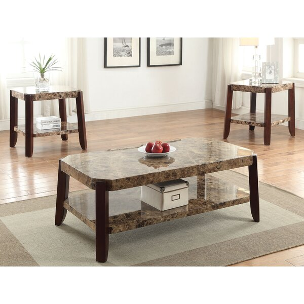 3 Piece Coffee Table Set by HomeRoots HomeRoots