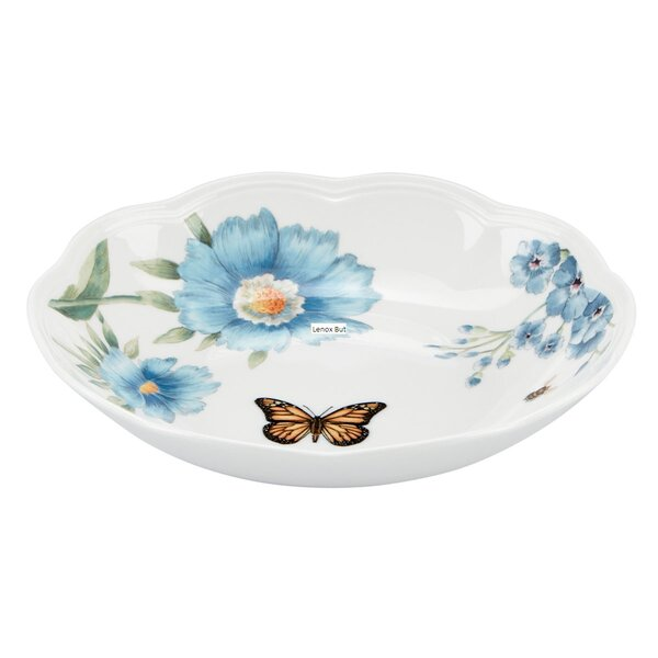 Butterfly Meadow 16 oz. Blue Pasta Bowl by Lenox