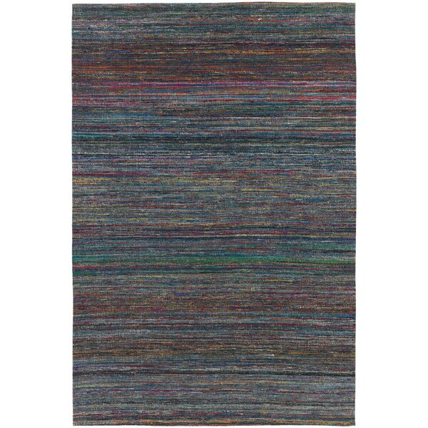 Cabarley Dhurrie Dark Blue Area Rug by Latitude Run
