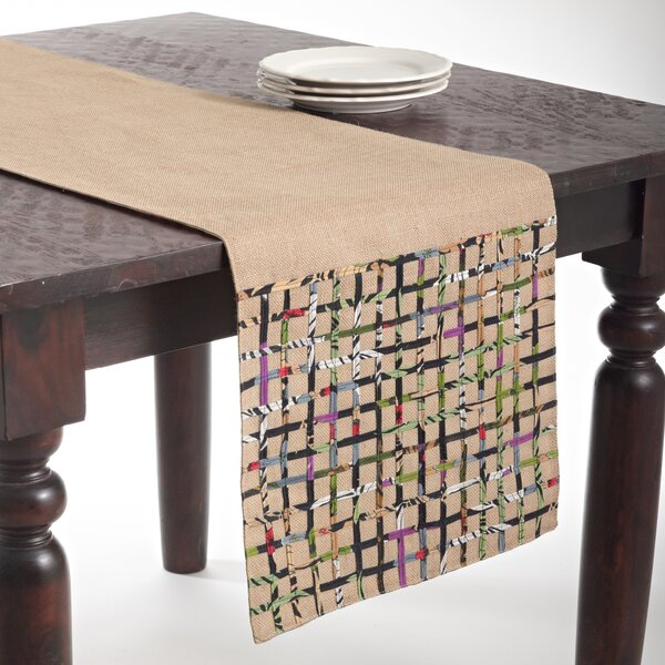 Jute Open Weave Table Runner by Beachcrest Home