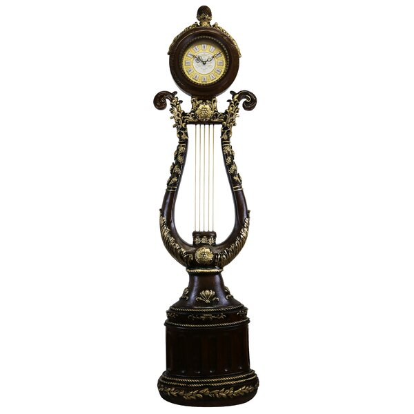 Elegant Harp Shaped 66 Floor Clock by Astoria Grand