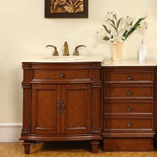 Where buy  Brennon 51 Single Bathroom Vanity Set By Fleur De Lis Living