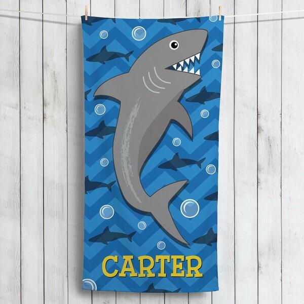 Kirkwood Shark Personalized Beach Towel by Zoomie Kids