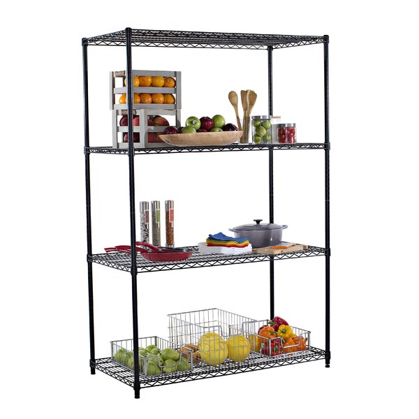 72 Four Shelf Shelving Unit by Trinity