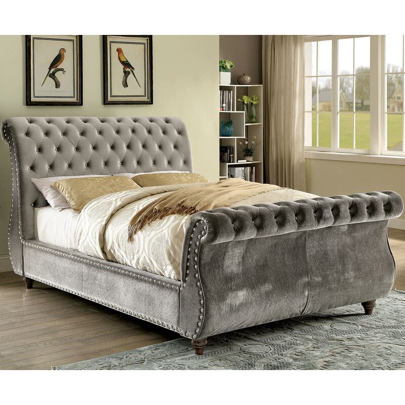 upholstered sleigh beds. Gayla Upholstered Sleigh Bed Upholstered Sleigh Beds R