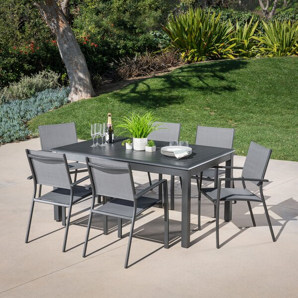 Aloysius 7 Piece Patio Dining Set by Latitude Run