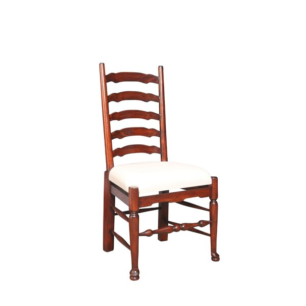 Yorkshire Upholstered Solid Wood Side Chair in Brown (Set of 2) by Manor Born Furnishings Manor Born Furnishings