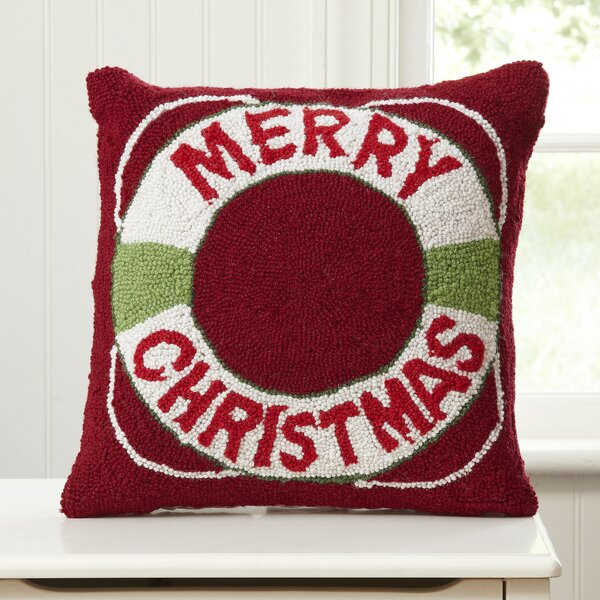 Holiday Lifesaver Hooked Pillow by Birch Lane Kids™
