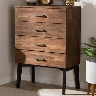 Tion Wood 4 Drawer Chest by Union Rustic