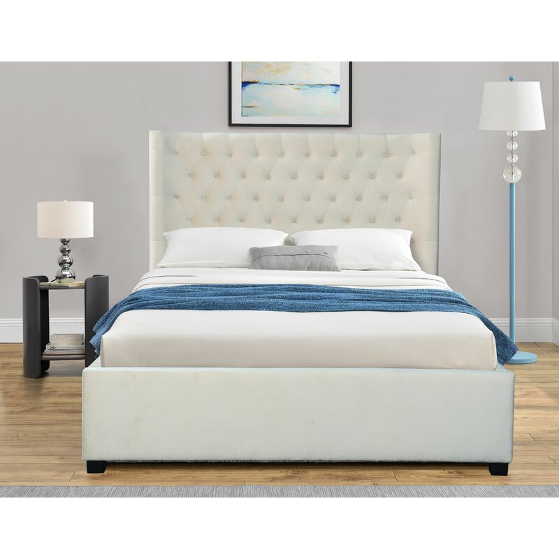 Red Barrel Studio Bradbourne Tufted Upholstered Low Profile Platform Bed Wayfair