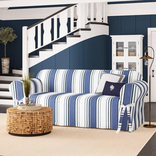 Box Cushion Sofa Slipcover by Beachcrest Home