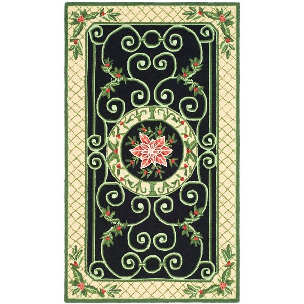 Kinchen Green/Beige Novelty Rug by August Grove