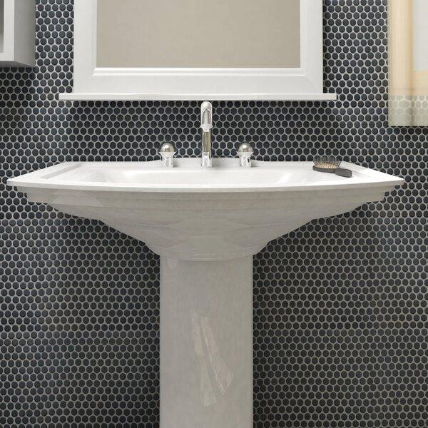 Penny 0.8 x 0.8 Porcelain Mosaic Tile in Matte Black by EliteTile