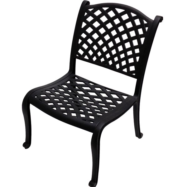 Peniste Armless Patio Dining Chair by Canora Grey Canora Grey