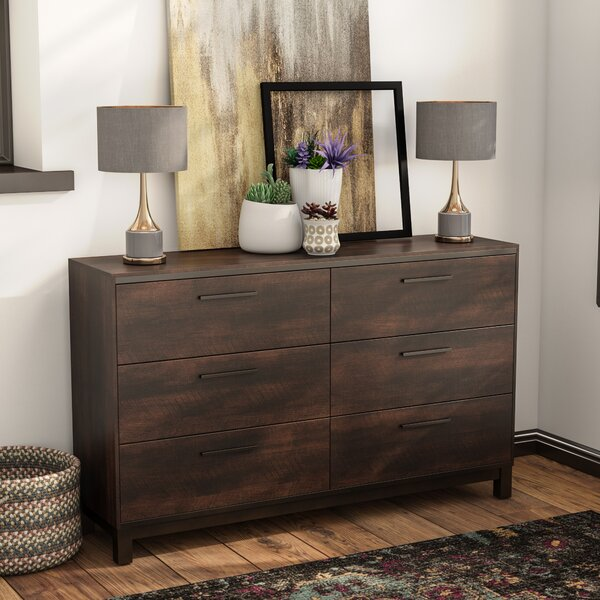 Shrout 6 Drawer Double Dresser by Gracie Oaks