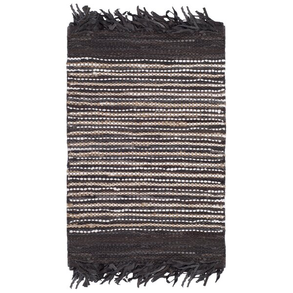 Swayze Hand Tufted Dark Brown Area Rug by Mistana