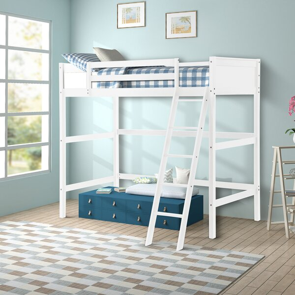Orla Solid Wood Twin Loft Bed By Harriet Bee