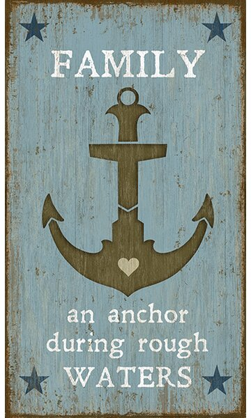 Anchor by Suzanne Nicoll Graphic Art Plaque by Breakwater Bay