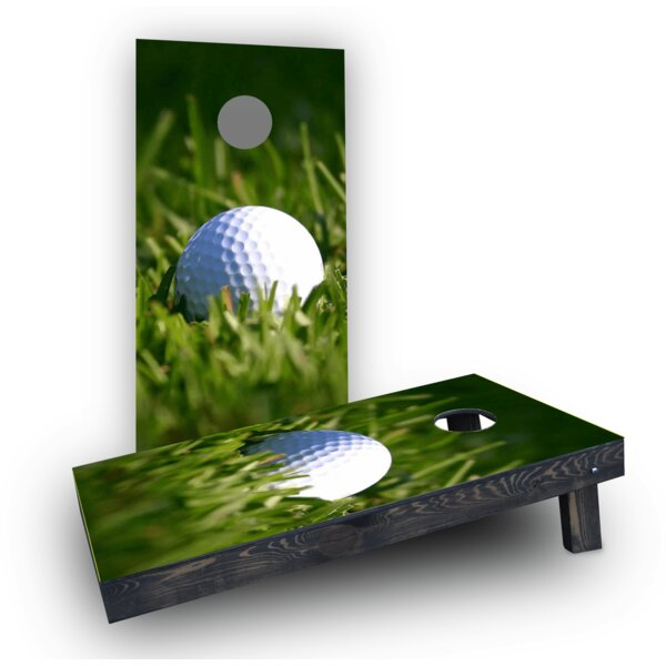 Golf Ball Cornhole Boards (Set of 2) by Custom Cornhole Boards