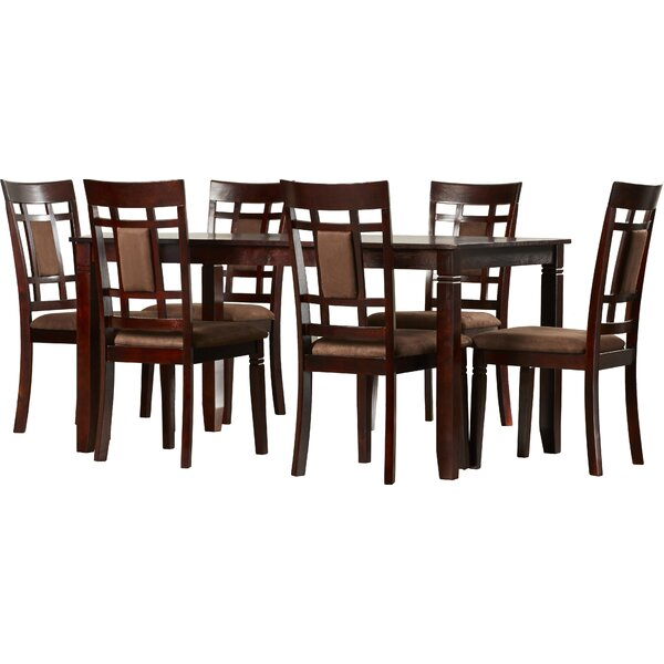 Penmoor 7 - Piece Counter Height Solid Wood Dining Set by Red Barrel Studio Red Barrel Studio