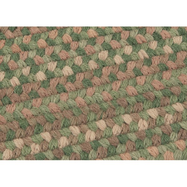 Gloucester Cabana Braided Green Area Rug by Colonial Mills