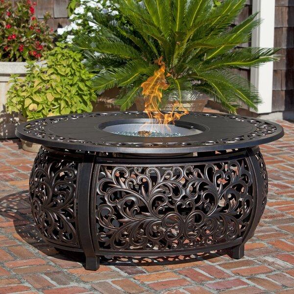 Toulon Aluminum Propane Fire Pit Table by Fire Sense