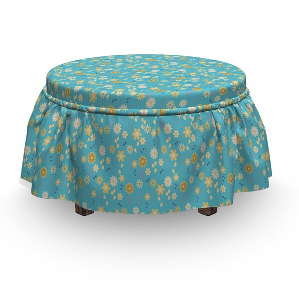 Flowers On Stems Ottoman Slipcover (Set Of 2) By East Urban Home