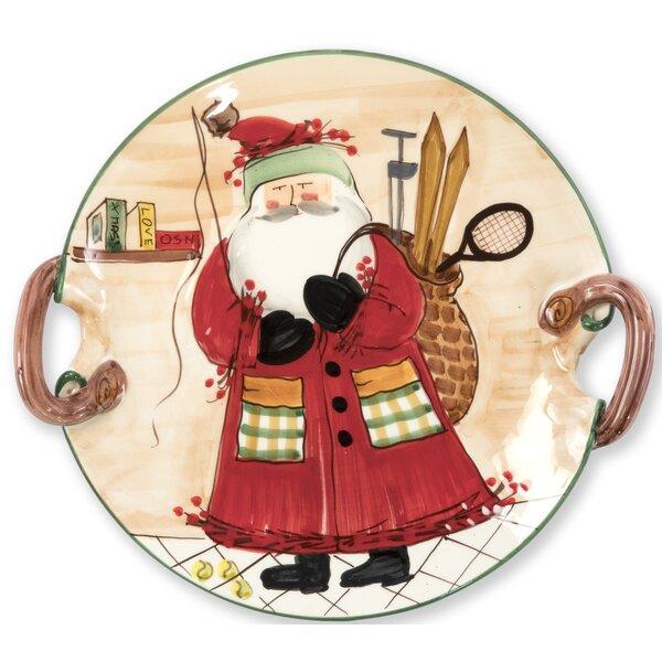 Handled Round Platter by VIETRI
