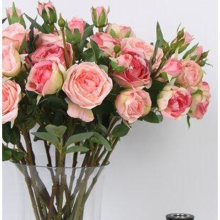 Silk rose stems wayfair luxury silk rose flower stem mightylinksfo