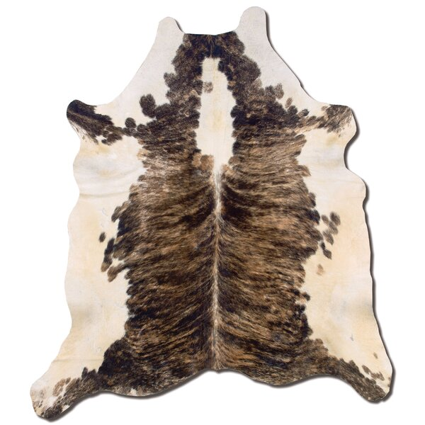 Hand-Tufted Cowhide Brown Area Rug by Meridian Rugmakers