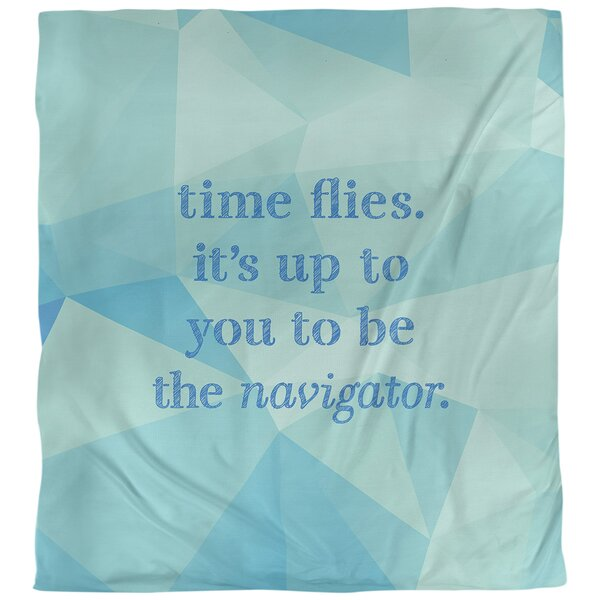 Time Flies Quote Single Duvet Cover
