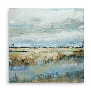 Seaside Mire' Oil Painting Print on Wrapped Canvas by Winston Porter