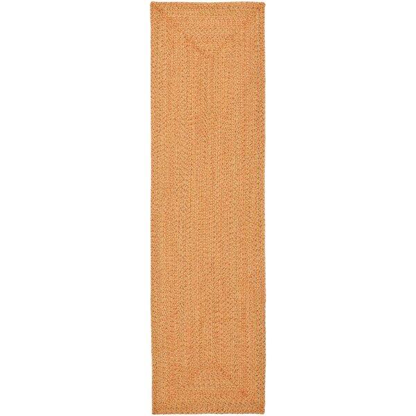 Woodlawn Hand Woven Beige/Orange Area Rug by Bay Isle Home