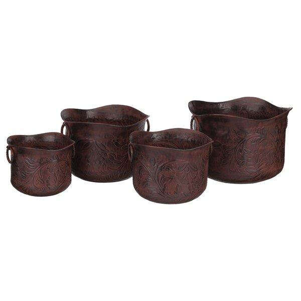 4 Piece Metal Pot Planter Set by Regal Art & Gift