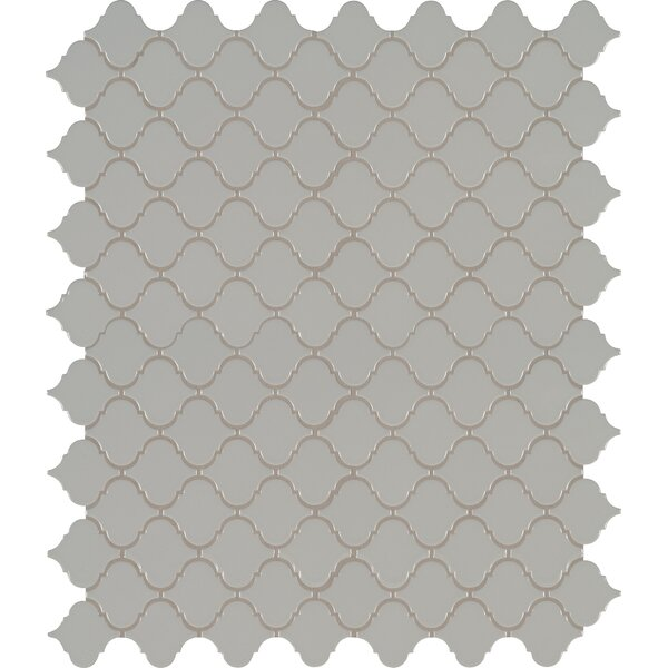 Domino Arabesque Mesh Mounted Porcelain Mosaic Tile in Gray by MSI