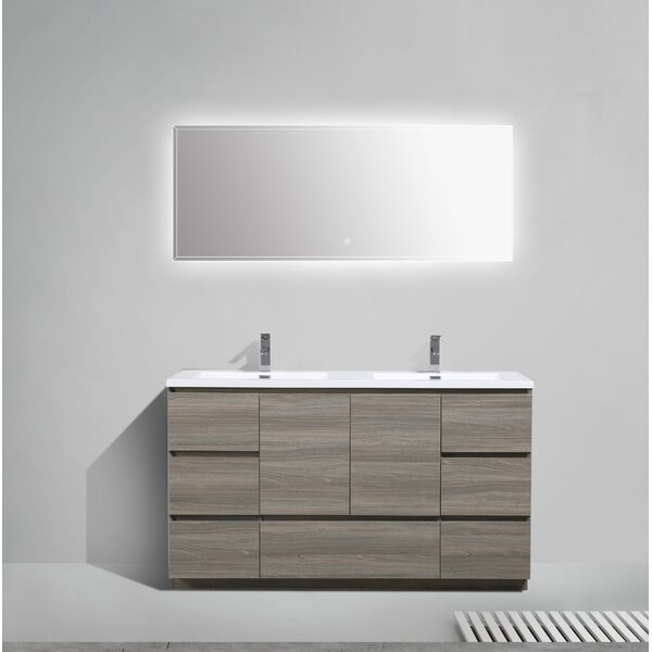 Riker 59 Double Bathroom Vanity Set by Orren Ellis