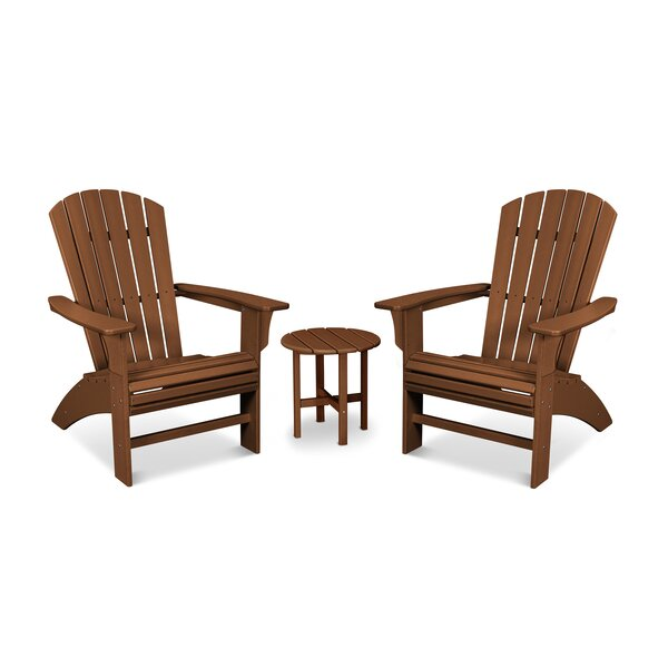 Yacht Club Curved Back 3 Piece Seating Group by Trex Outdoor