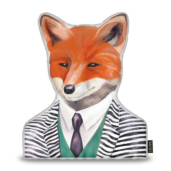 Jepsen Fox Throw Pillow by Wrought Studio