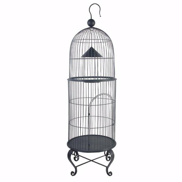 House Style Economy Bird Cage by Benzara